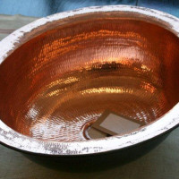 Copper basin round