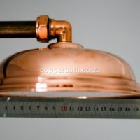 Shower rose large copper brass