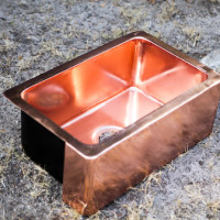 Rectangular copper basin