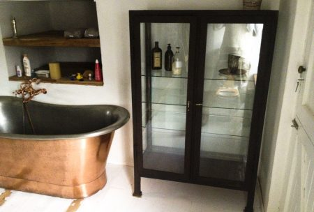 Franschoek copper and tin bath installation
