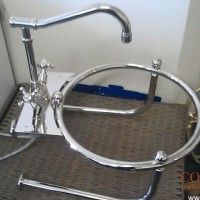 Custom nickel basin support frame