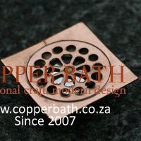 Shower waste, copper plated