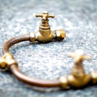 Antiqued shower detail (components may vary)