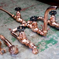 Bath shower divertor in copper