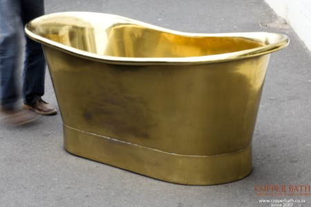 Brass plated copper bath