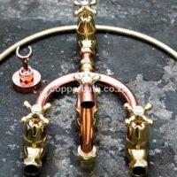 BM 002 custom design copper brass bath mixer