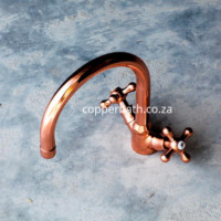 Swivel spout and mixer available in nickel brass and copper