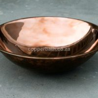 SSmooth copper basin round