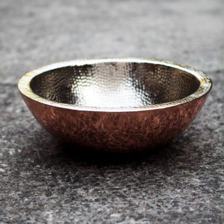 Hammered nickel inner, smooth copper outer, new design.