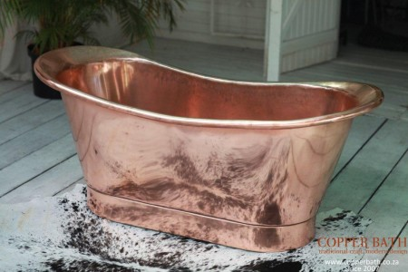 Modern minimilist copper bath inner and outer