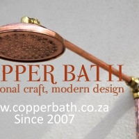 Copper on brass plated shower 150mm