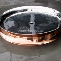 Shower tray copper and nickel 1,2 metres