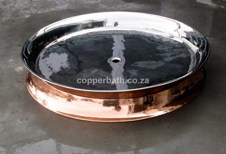Copper nickel shower tray