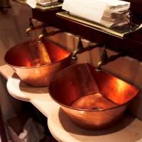 copper basin installation