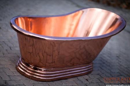 Copper bath, single slipper 170 cm