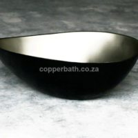 White Bronze Basin Eliptical