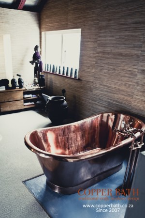 Copper bath Fresnay installation