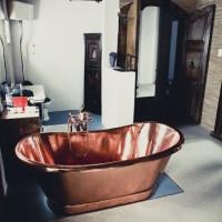 Copper bath Fresnay installation