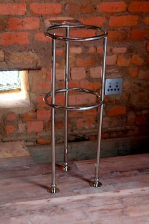 stand for basins and mixer available in copper and nickel