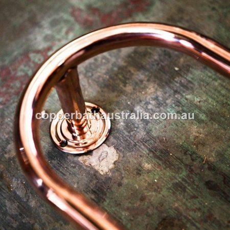 Strainer waste plug copper