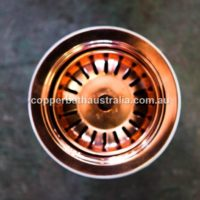 Strainer waste plug copper