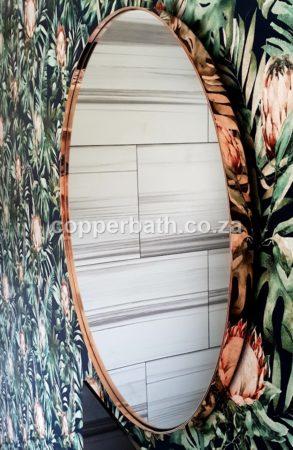 Copper mirror round