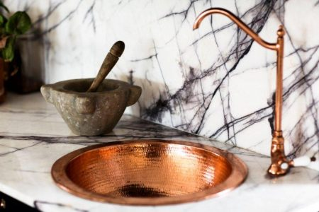 copper basin hammered