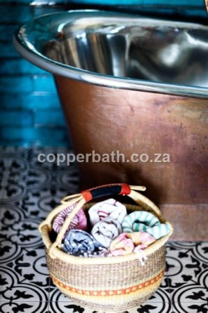Copper bath towels