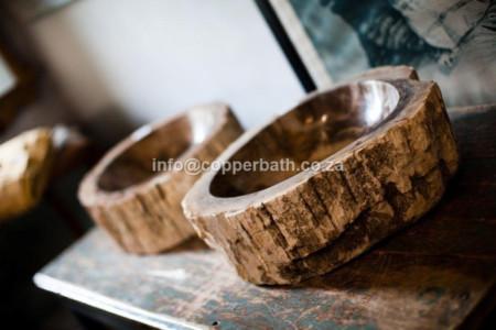 petrified wood/stone basin